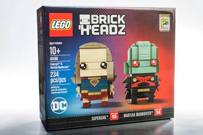 Exclusivo: Supergirl y Martian Manhunter BrickHeadz para Comic-Con