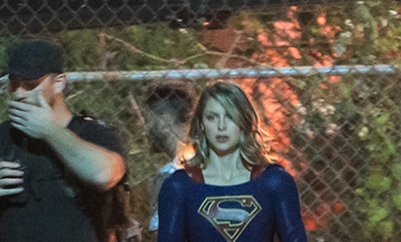 Nuevas y antiguas fotos de Melissa Benoist y David Harewood en el set Supergirl