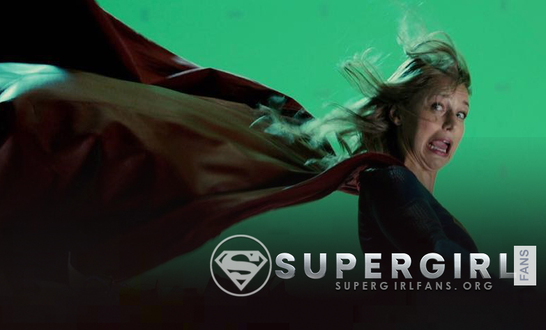 Melissa Benoist nos comparte una foto desde el set de Supergirl