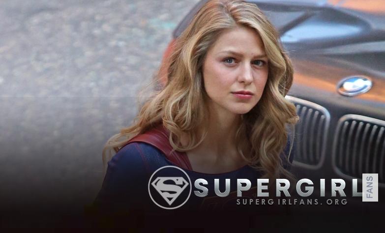 Fotos HQ's de Melissa Benoist en el set de Supergirl