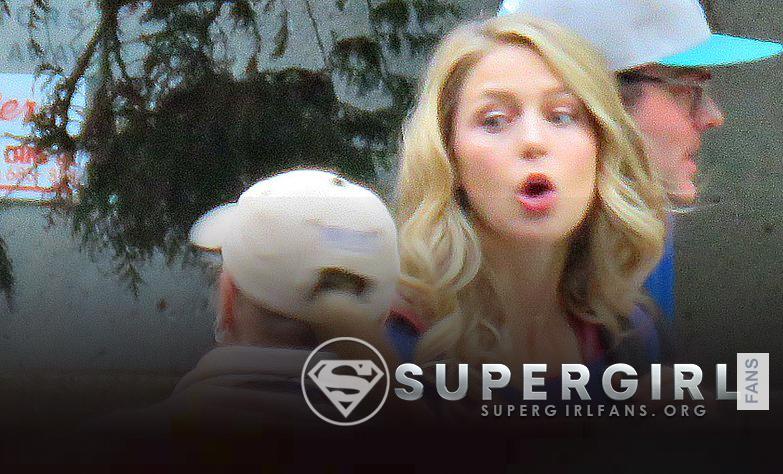 Fotos de Melissa Benoist en el set de Supergirl