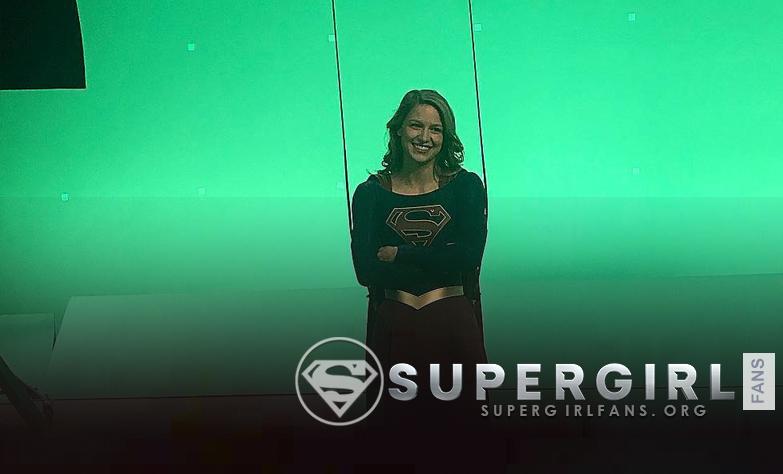 Nueva foto de Melissa Benoist en el set de Supergirl