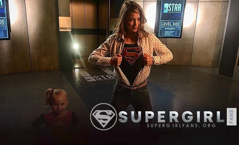 Fotos de Melissa Benoist en el set de Crisis on Earth-X