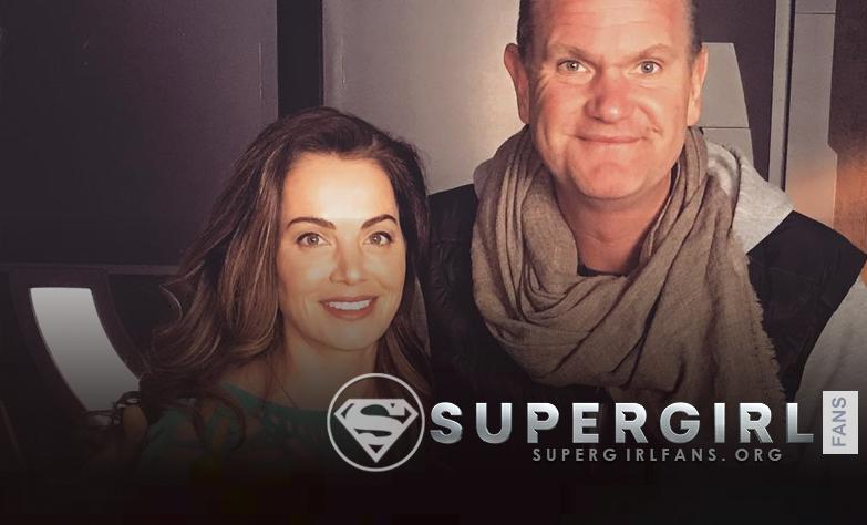 Nueva foto de Erica Durance en el set de Supergirl
