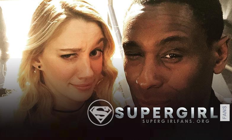 Nueva foto de David Harewood y Yael Grobglas  en el set de Supergirl