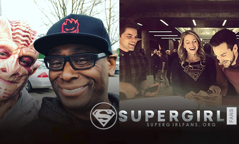 Nuevas fotos del cast de Supergirl en el Set