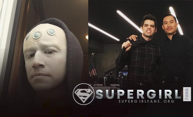 Nueva foto de Jesse Rath y Jeremy Jordan en el set de Supegirl