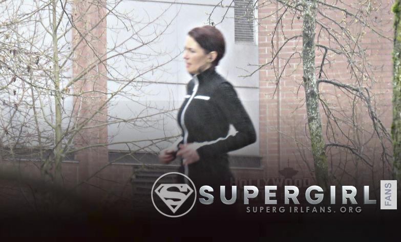 Fotos de Chyler Leigh en el set de Supergirl