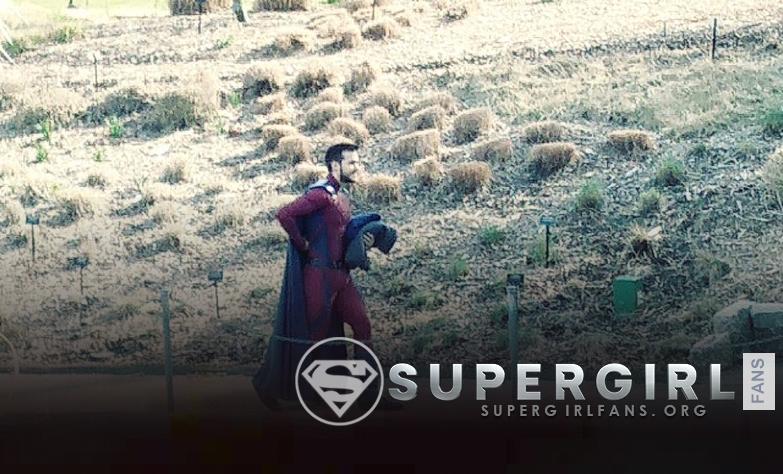 Fotos de Chris Wood en el set de Supergirl