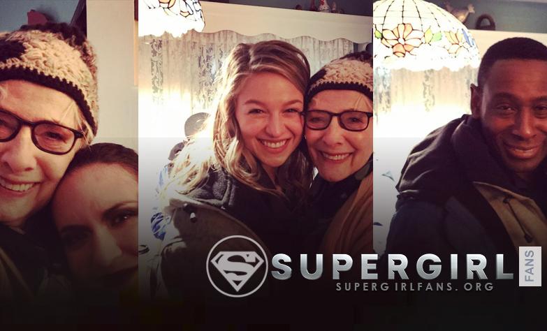 Betty Lynn Buckley nos comparte fotos con el cast desde el set de Supergirl
