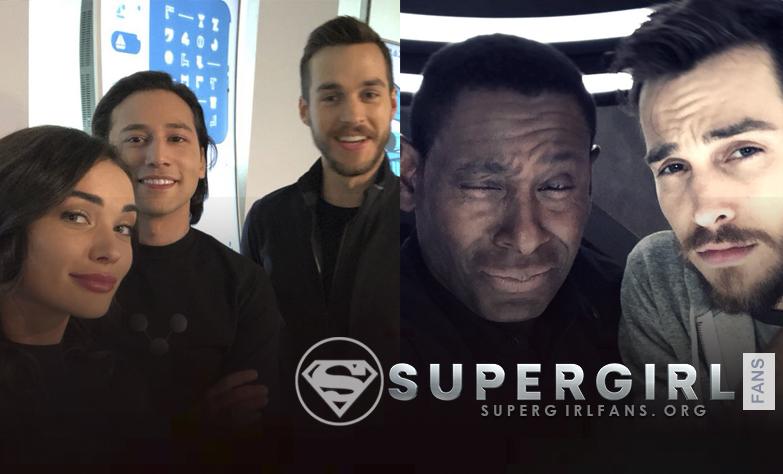 Nuevas fotos del cast en el set de Supergirl