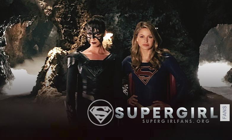 Nuevas fotos de Odette Annable y Melissa Benoist en el set de Supergirl