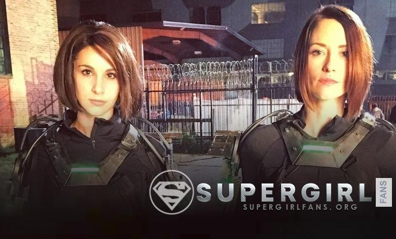 Nueva y antigua foto de Chyler Leigh en el set de Supergirl Season 1