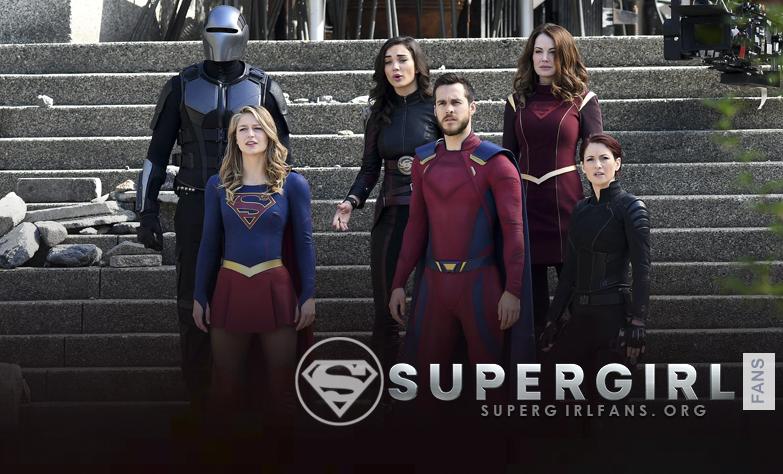 Fotos HQ's del cast de Supergirl en el set