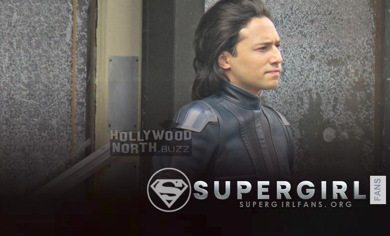 Fotos de Jesse Rath en el set de Supergirl en Vancouver