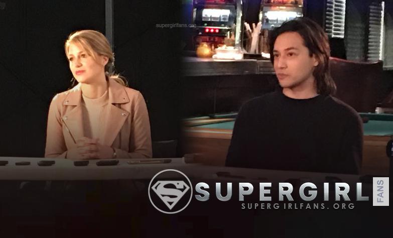 Fotos del cast de Supergirl (entrevista en el set)