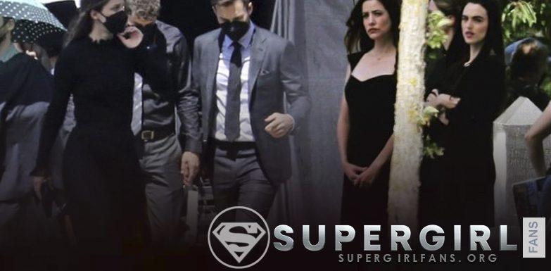Fotos del cast de Supergirl en el set