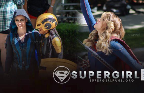Fotos + Vídeos del Cast de Supergirl en el set y veremos a Overgirl en el final de la temporda